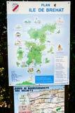 Внешняя карта острова Brehat Стоковая Фотография RF