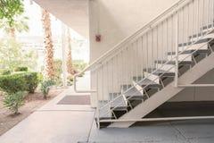 Внешняя конкретная лестница Стоковые Изображения RF
