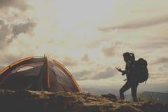 Внешняя концепция hiker Стоковая Фотография