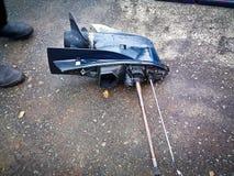 Внешняя коробка передач двигателя стоковые фото
