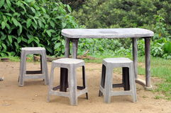 Внешняя мебель в доме в деревне на острове Шри-Ланки Стоковые Фото