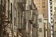 Внешняя непредвиденная лестница Стоковые Изображения
