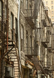 Внешняя непредвиденная лестница Стоковые Изображения RF