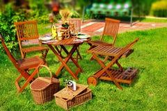 Внешняя обедая сцена Стоковые Изображения