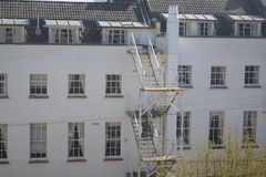 Внешняя пожарная лестница Стоковые Фотографии RF