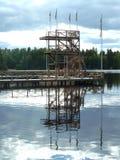 Внешняя платформа подныривания Стоковая Фотография RF