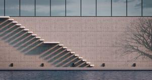 Внешняя современная лестница cantiliver Стоковое фото RF