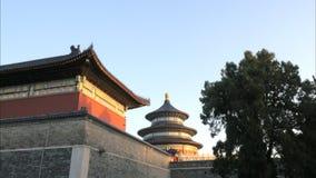 Внешняя стена и pavillion на Temple of Heaven, Пекин видеоматериал