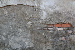 Внешняя стена цемента с красными кирпичами Стоковое фото RF