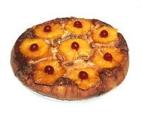 внешняя сторона ананаса торта вниз изолированная Стоковое Изображение