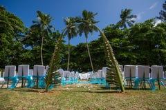 Внешняя сцена свадьбы стоковая фотография
