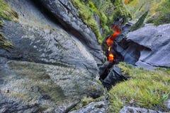 Внешняя часть mmelbach Fälle ¼ Trà (водопад) Стоковые Фотографии RF
