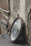вне брошенная старая зеркала Стоковые Фото