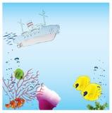 вне вода корабля Стоковое Изображение RF