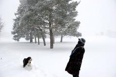 Вне в холоде Стоковое Фото