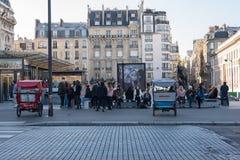 Вне музея Парижа Стоковое Изображение RF