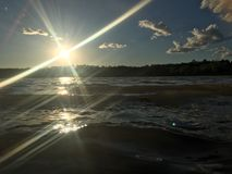 Вне на озере Стоковые Фото