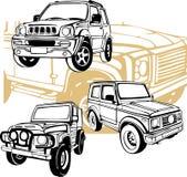 Внедорожные автомобили - комплект вектора Стоковое Изображение RF