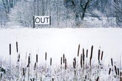 Вне спойте в снежном ландшафте, здравствуйте! весна, до свидания концепция зимы Стоковые Изображения