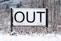 Вне спойте в снежном ландшафте, здравствуйте! весна, до свидания концепция зимы Стоковые Фотографии RF