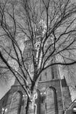 Вне церков Oude Kerk в Амстердаме Нидерландах HDR Стоковое Изображение