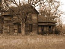 вниз бег дома фермы старый Стоковое Изображение