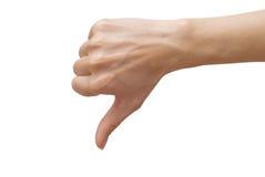 вниз большие пальцы руки Стоковые Изображения RF