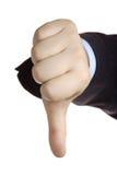 вниз большие пальцы руки Стоковое Фото