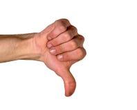 вниз большие пальцы руки стоковые фотографии rf