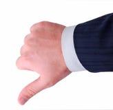 вниз большие пальцы руки Стоковая Фотография RF