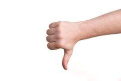 вниз большой пец руки Стоковая Фотография RF