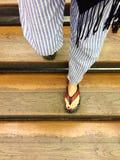 вниз гуляющ Стоковое Фото