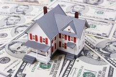 вниз компенсация ипотеки Стоковое Изображение