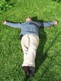 вниз лежащ Стоковое Изображение RF