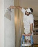 вниз отделка drywall постучала поверхностью Стоковое фото RF