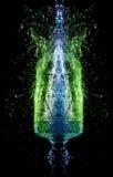 вниз падая стеклянная жидкость Стоковое фото RF