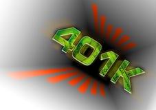 вниз пробки 401k Стоковая Фотография RF