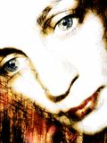 вниз смотря женщина портрета 2 стоковое фото