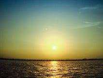 вниз солнце Стоковое Изображение RF