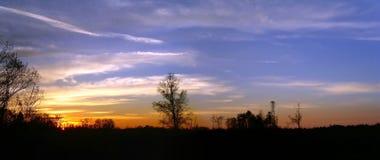 вниз солнце Стоковая Фотография
