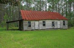 вниз старое здание школы бега Стоковое Изображение