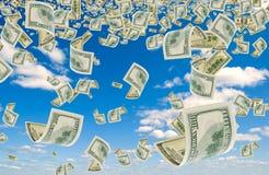 вниз стеките деньги стоковое фото rf