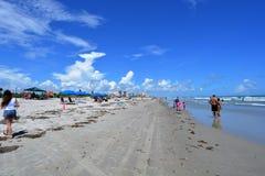 Вниз с пляжа Стоковая Фотография RF