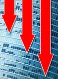 вниз финансовохозяйственные идя диаграммы Стоковое Изображение RF