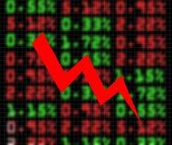 вниз шток рынка обменом идя Стоковые Фотографии RF