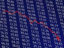 вниз шток рынка Стоковая Фотография