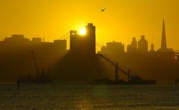 вниз francisco san устанавливает солнце Стоковое Изображение