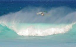 вниз windsurfer внешней стороны Стоковые Фотографии RF