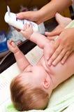 внимательность младенца стоковое изображение rf