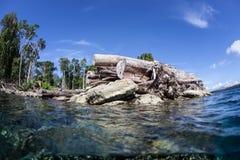Вносить в журнал на Соломоновых Островах Стоковые Изображения RF